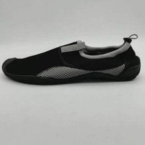 Lands End Womens Water Shoes Black Gray 5-6 New